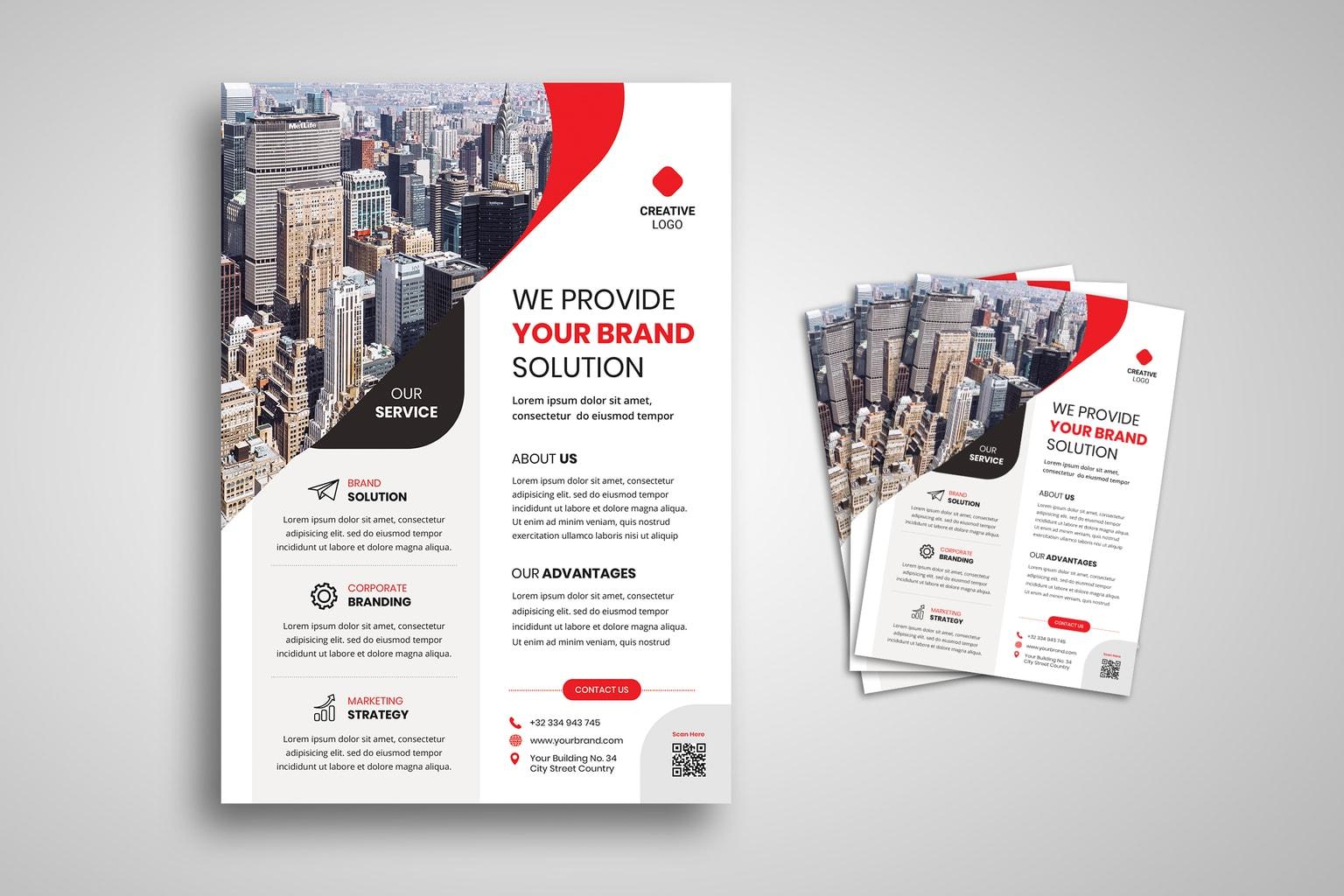 flyer corporate branding