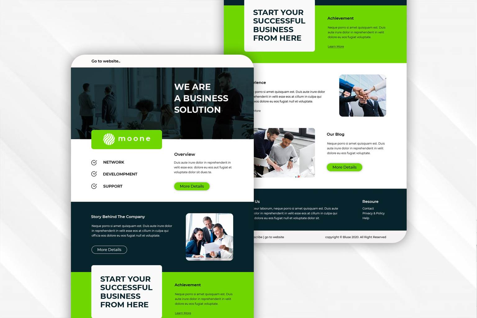 modern business solution email newsletter