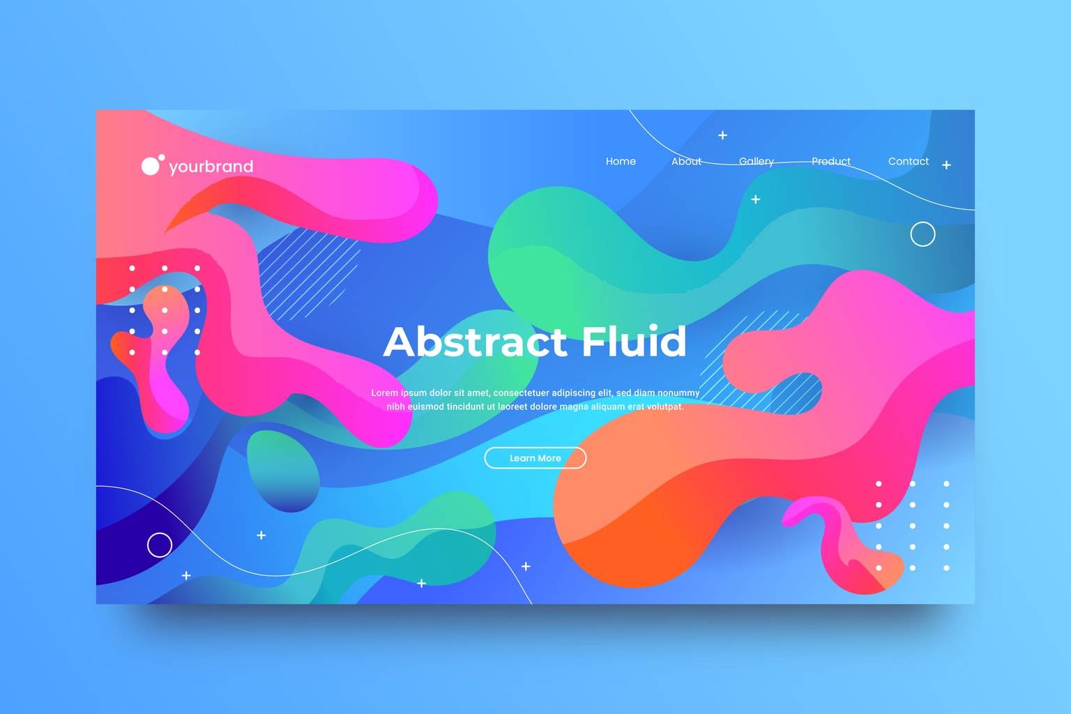 abstract background the concept of colorful fluid