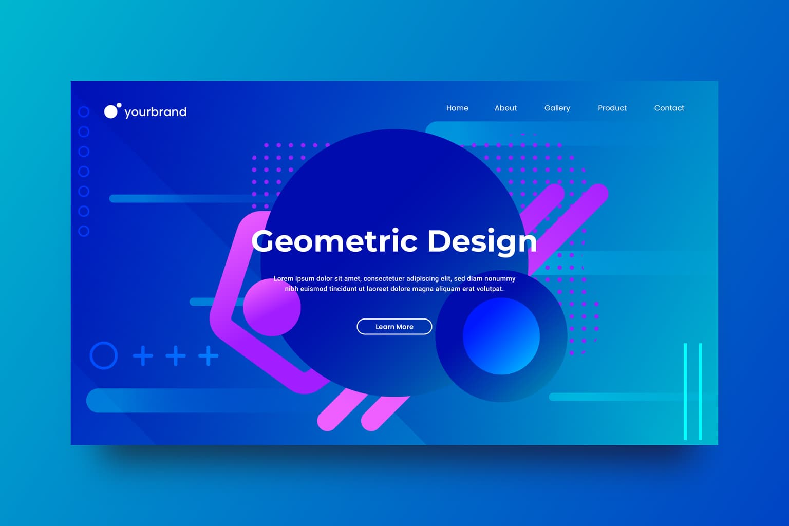 abstract background flow blue geometric