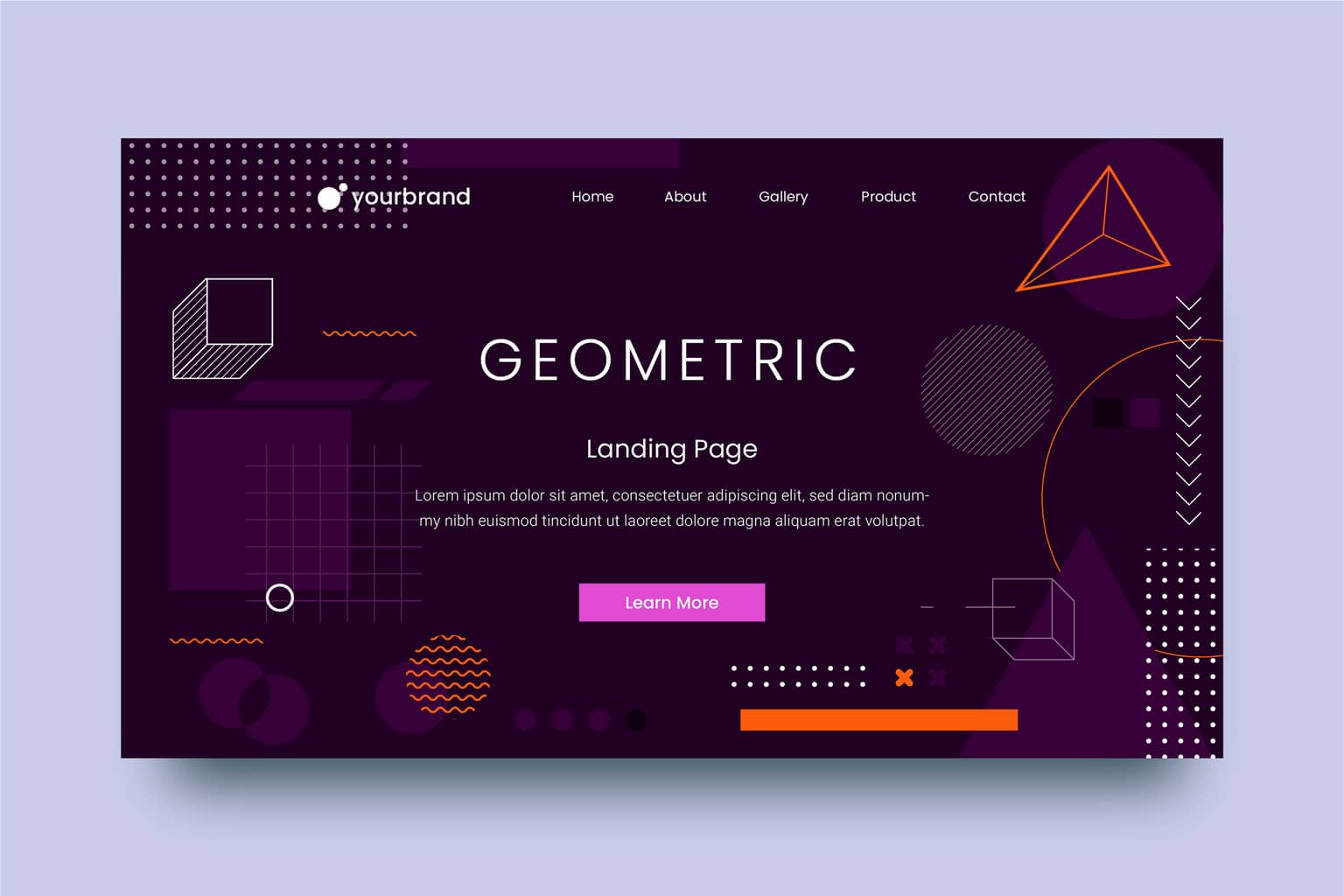 abstract background combination of geometric elements