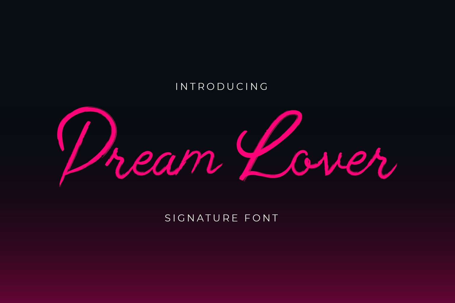 fonts dream lover signature