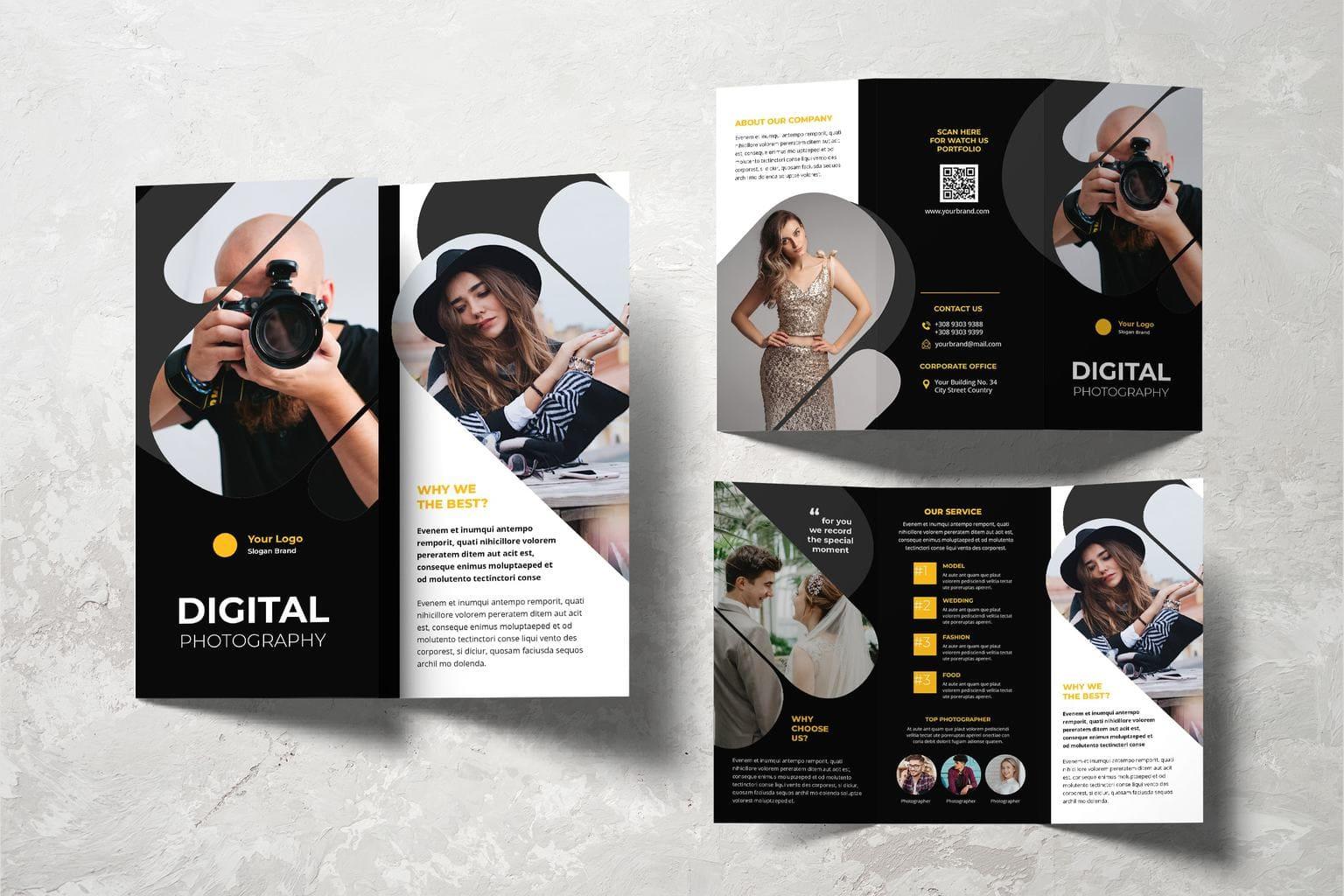trifold brochure digital photography