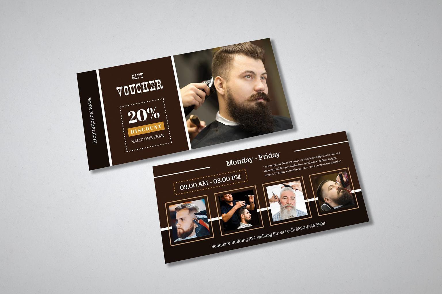 gift card voucher barbershop discount