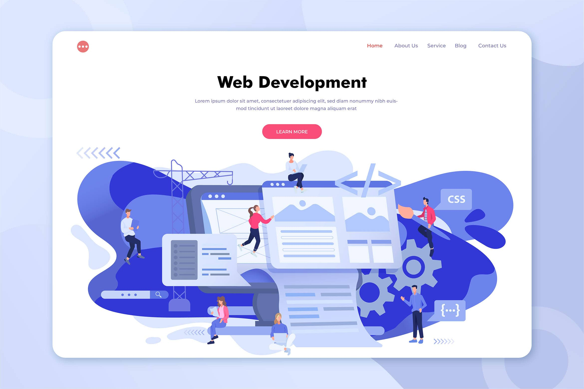 illustration landing pages professional web development
