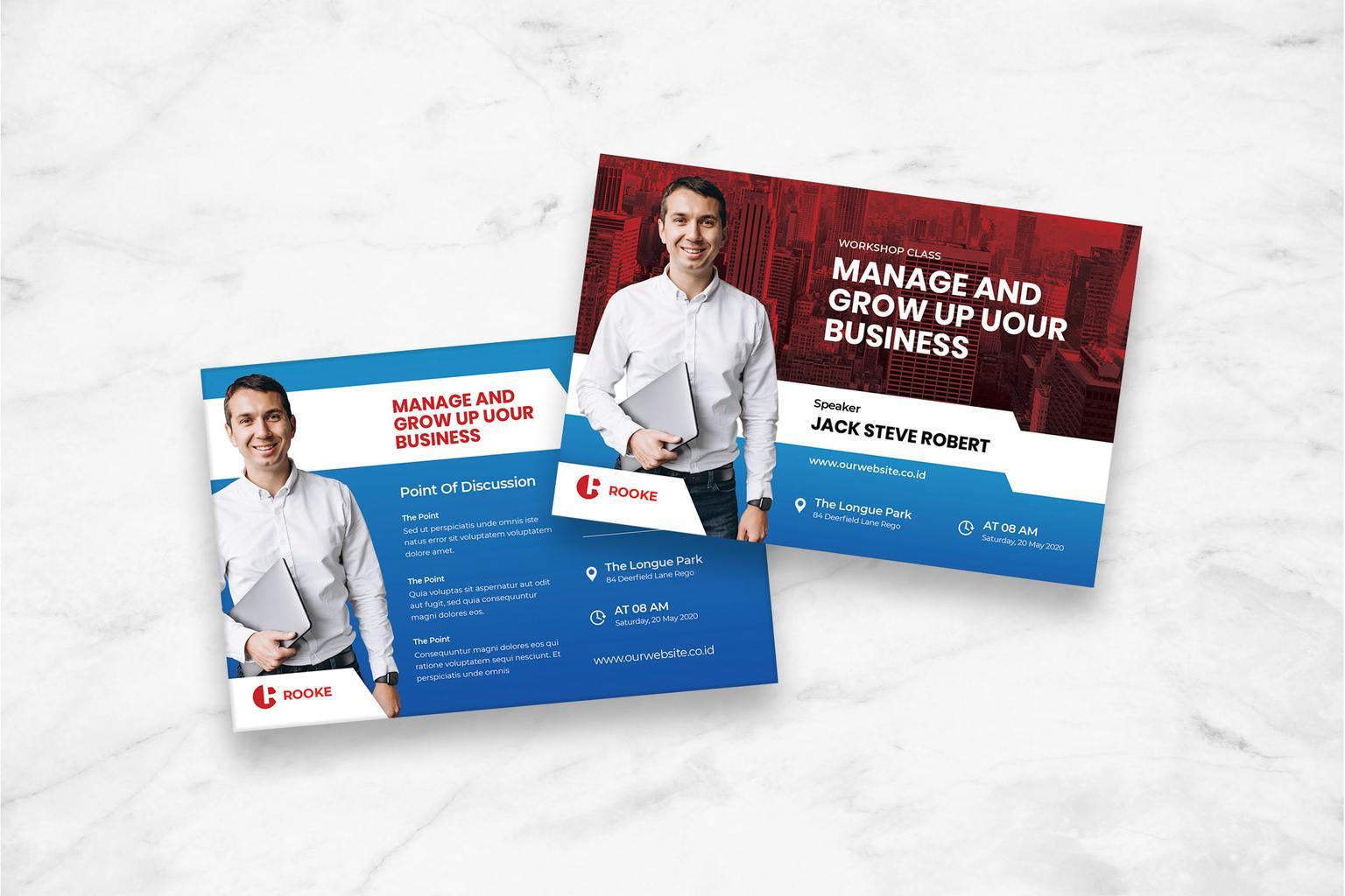 postcard business development management 1