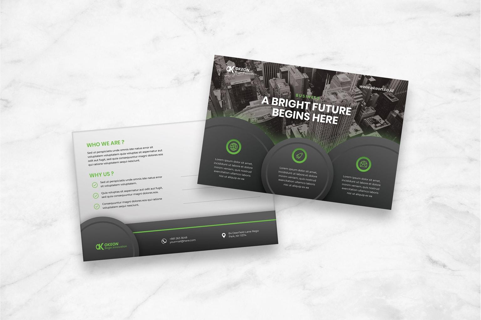 postcard bright future innovation