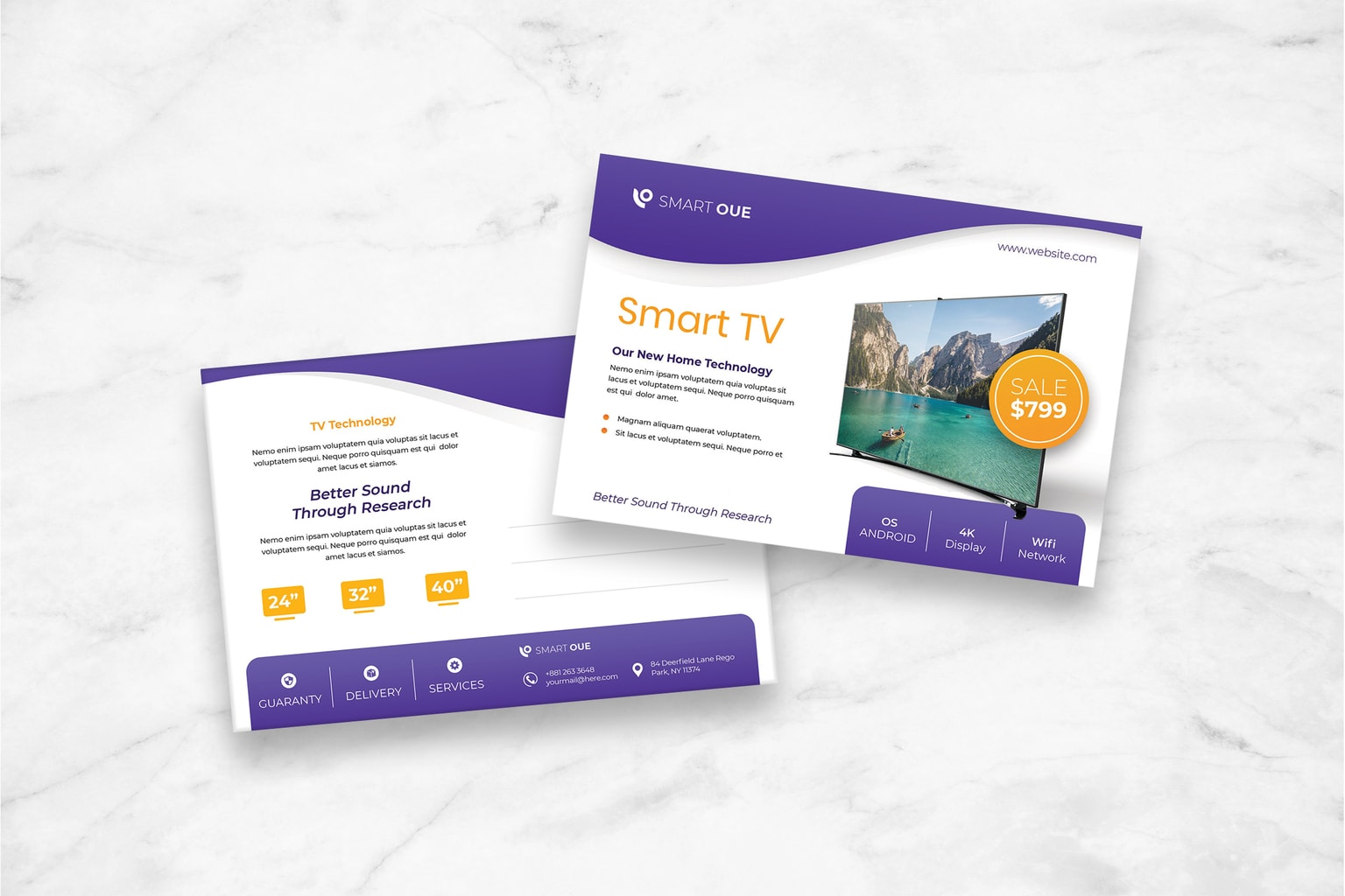 postcard smart tv product
