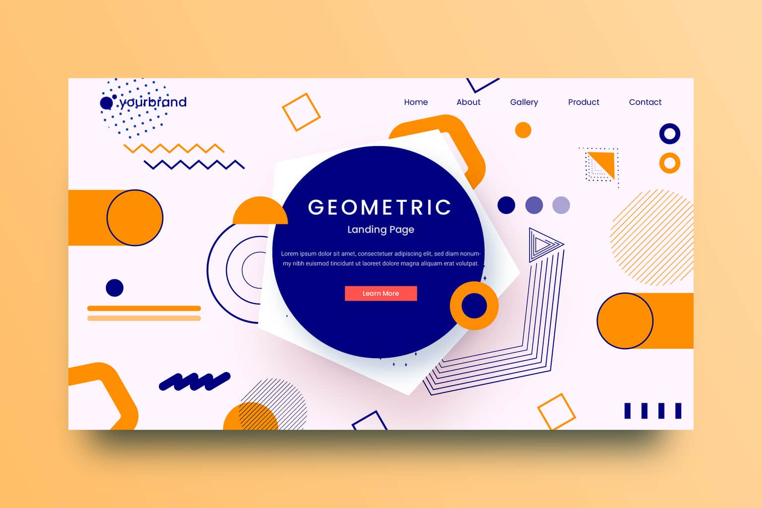 abstract background flat geometric shapes