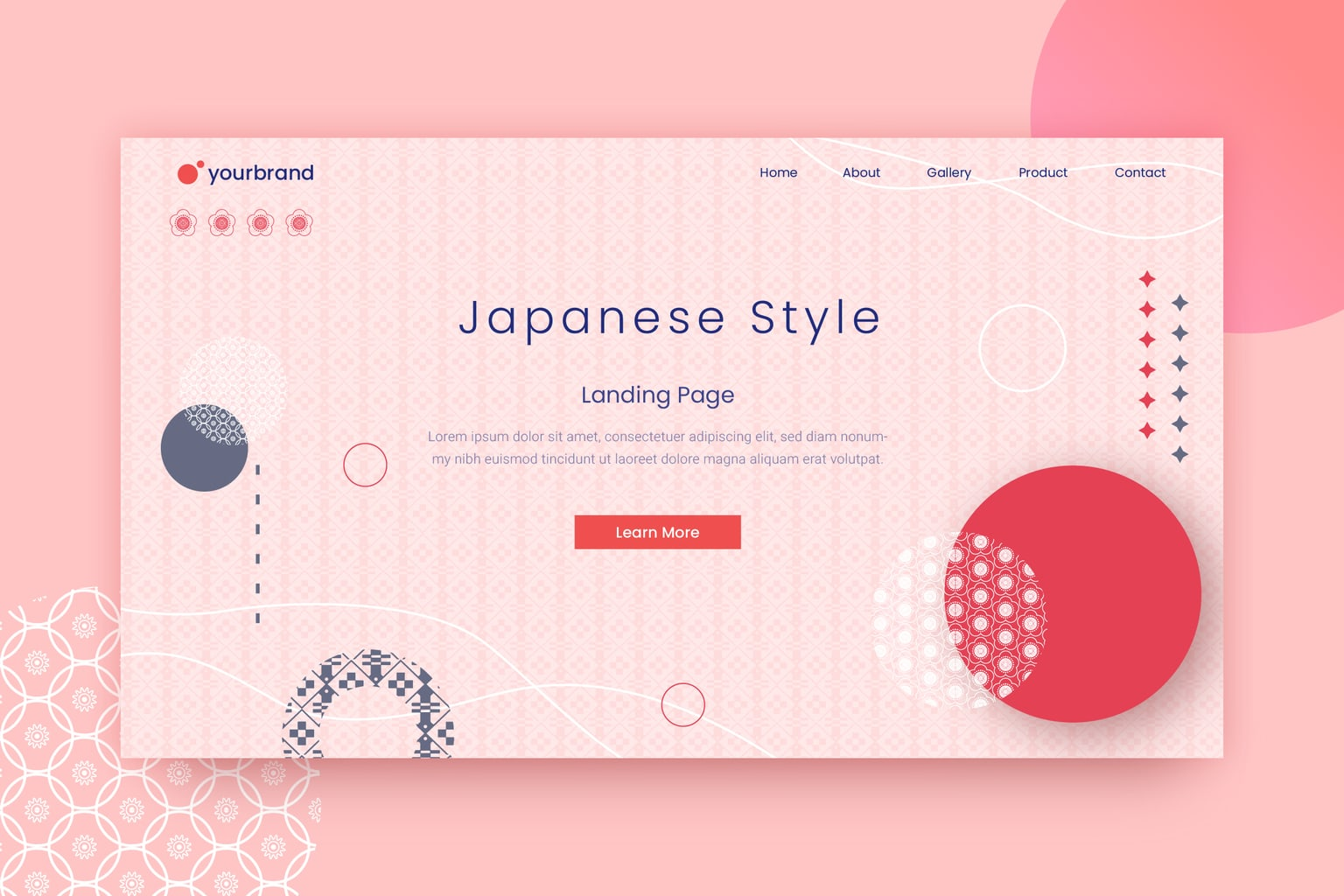 abstract background pink japanese style