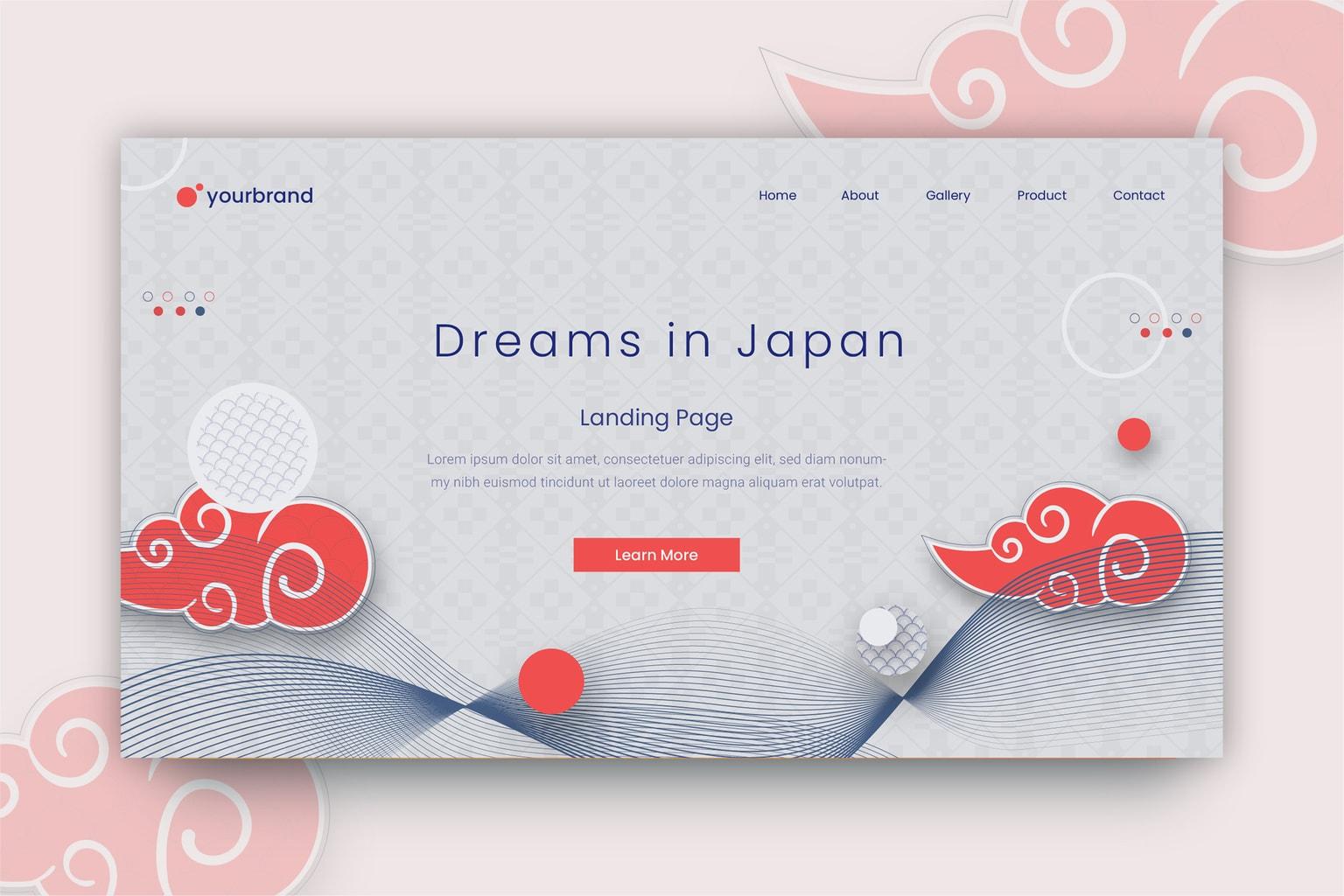 abstract background japanese minimalist style