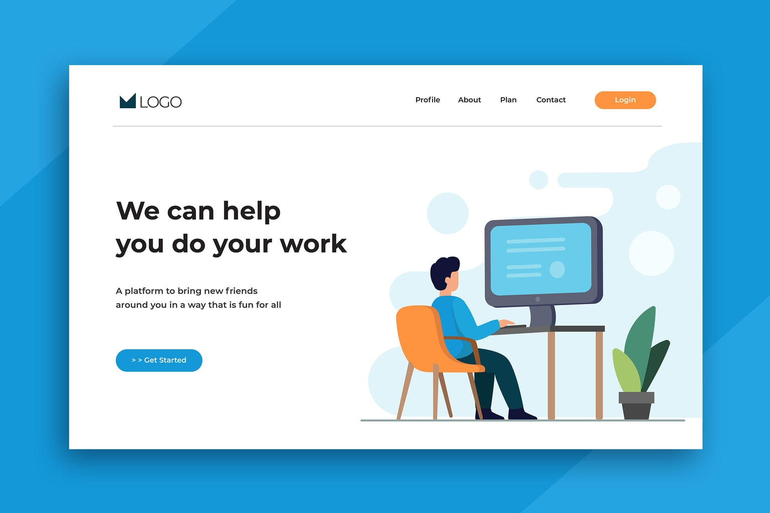 illustration landing pages help work