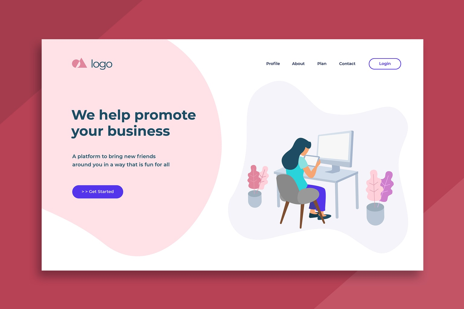 illustration landing pages business marketing