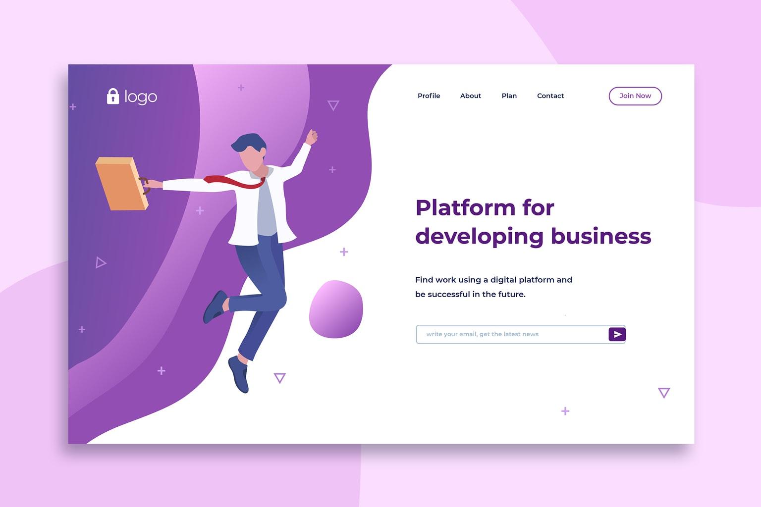 illustration landing pages business development platform 5