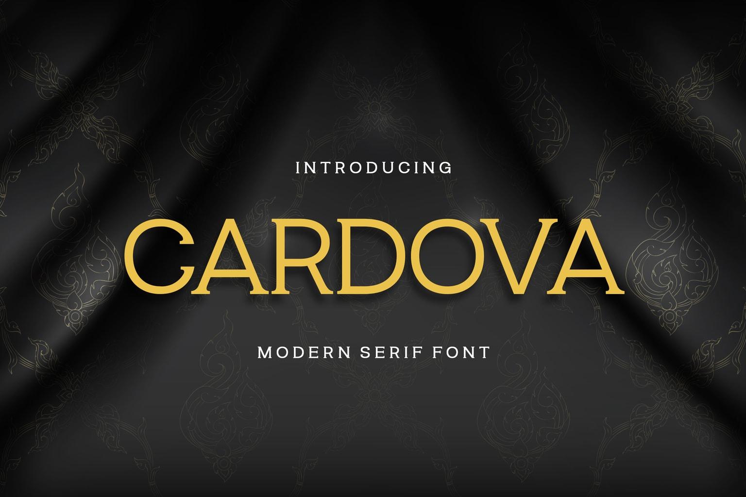 fonts cardova serif