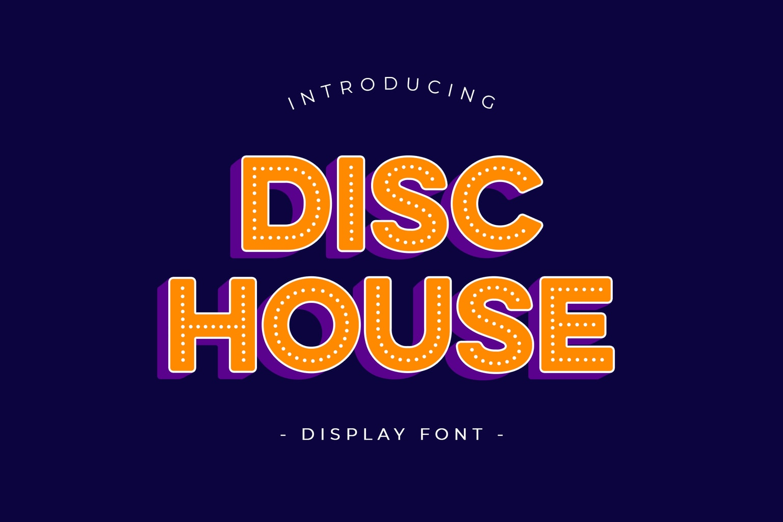 fonts disc house display 1