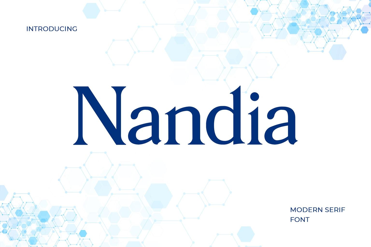 fonts nandia serif typeface
