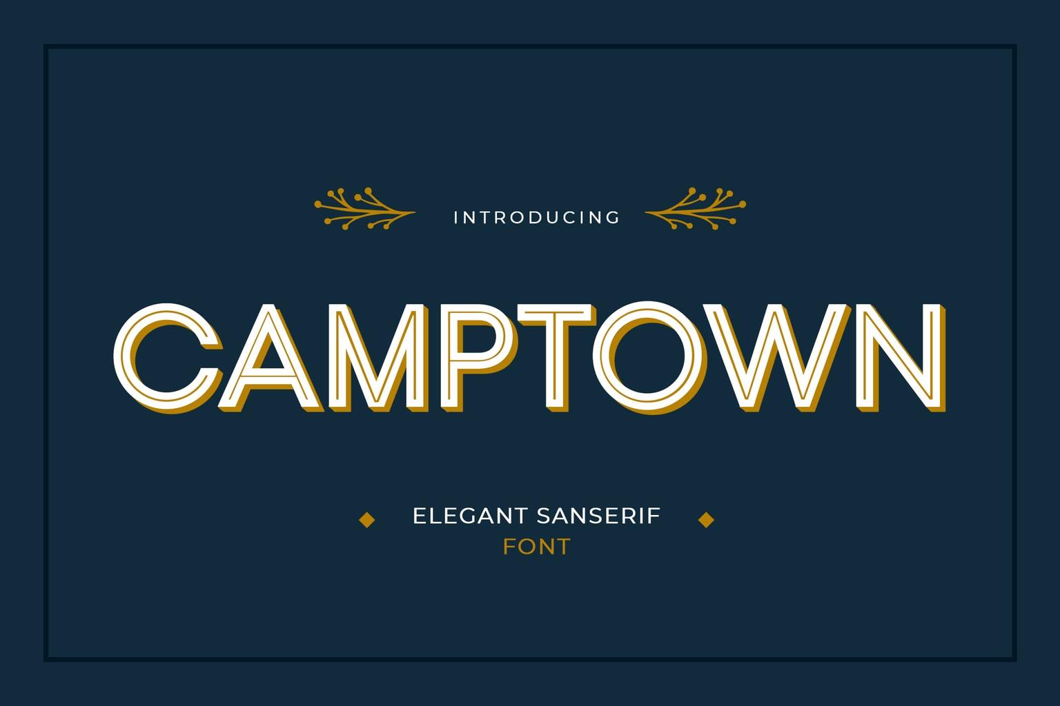 fonts camptown sanserif
