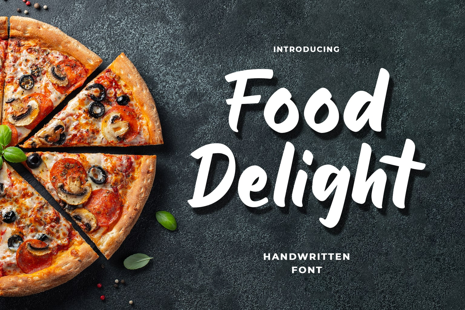 fonts food delight handwritten