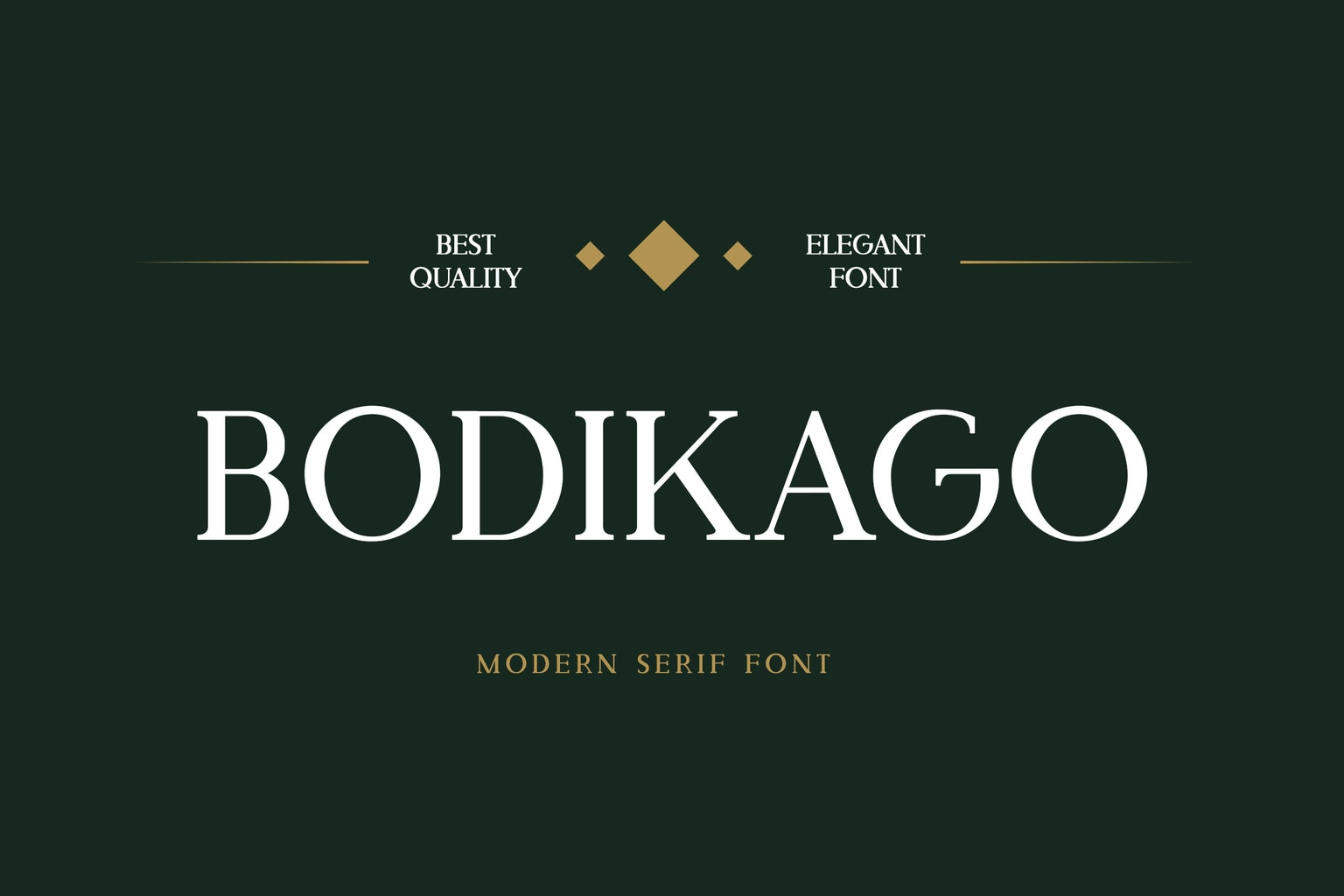 fonts bodikago serif