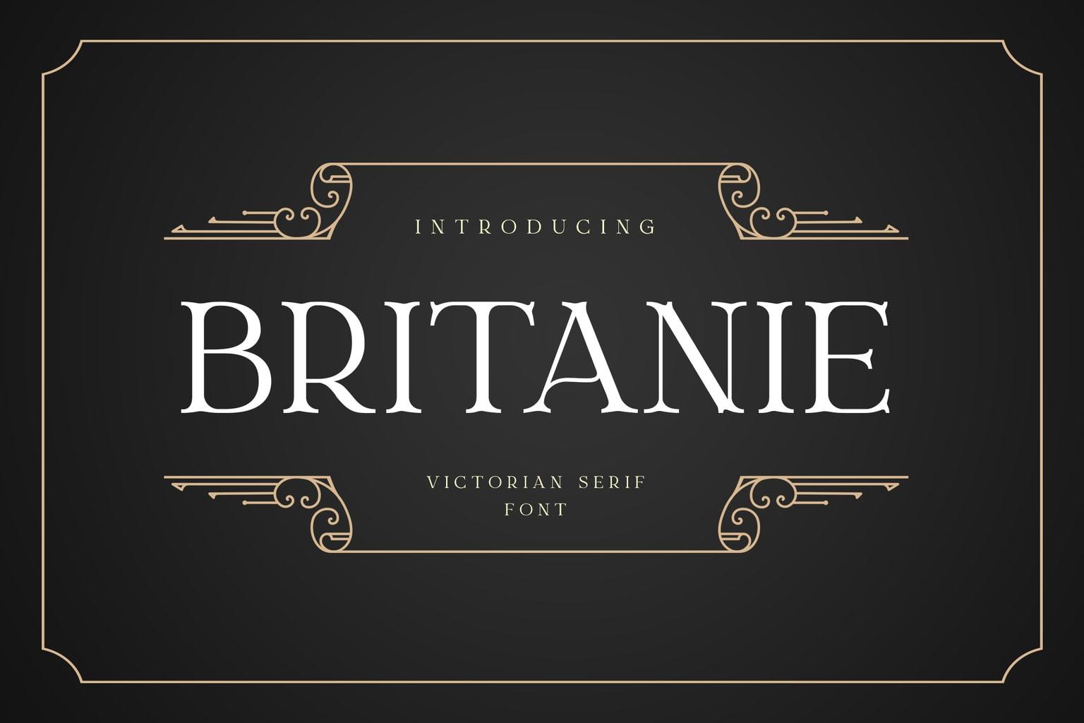fonts britanie serif