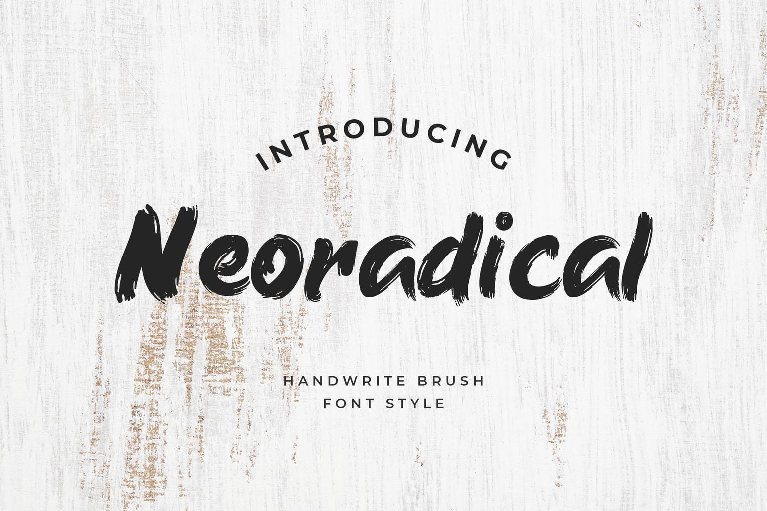 fonts neoradical brush