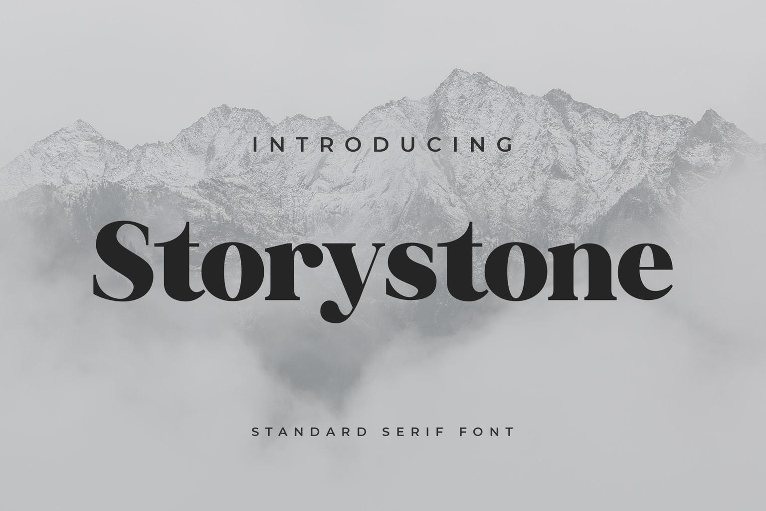 fonts storystone serif