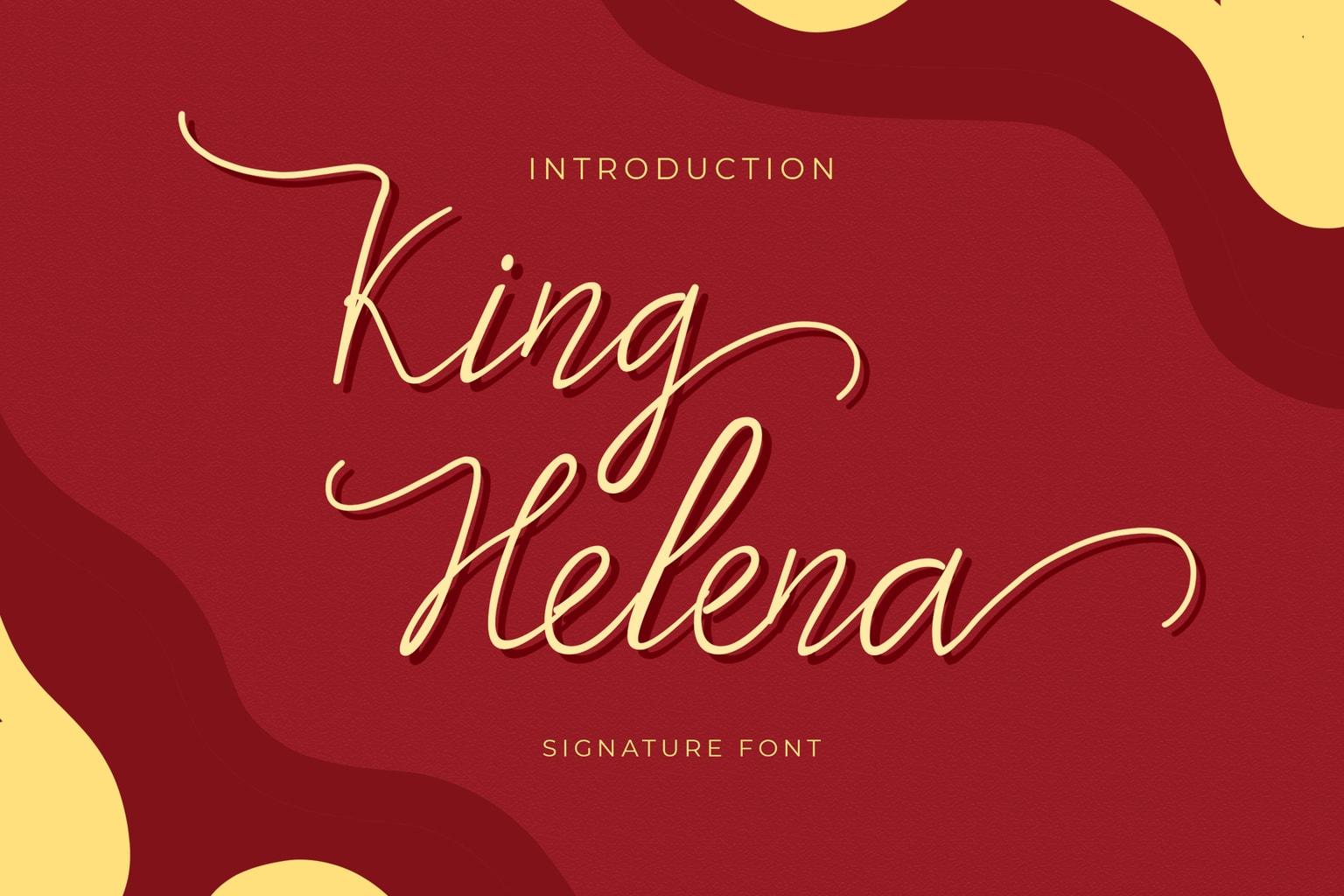 fonts king helena script