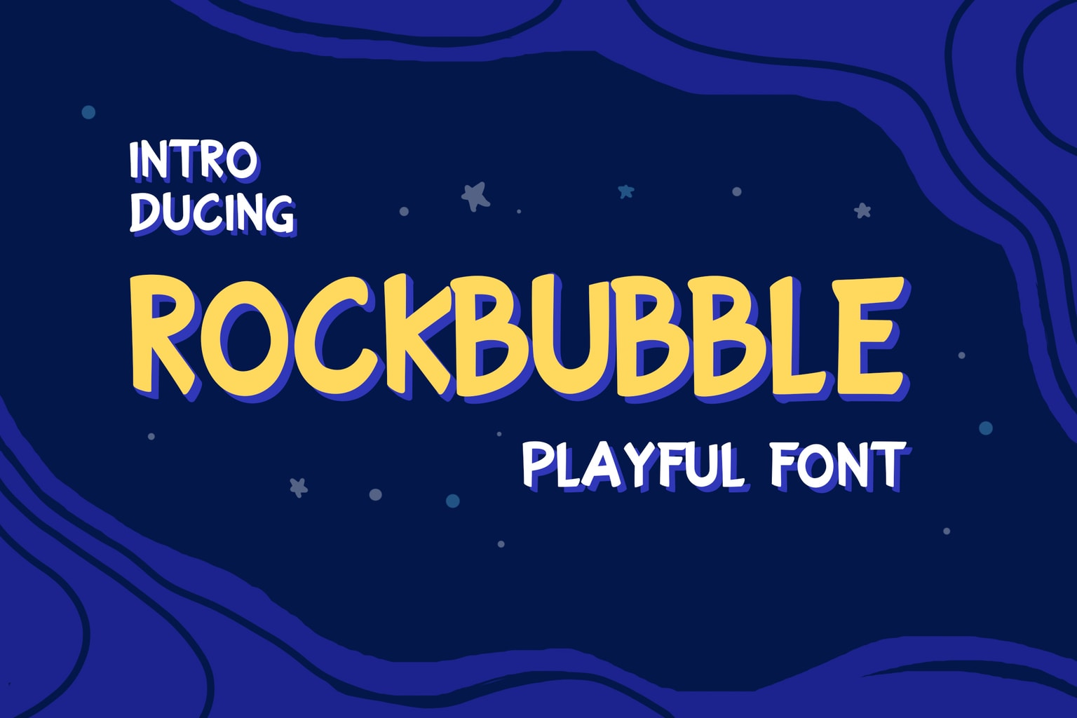 fonts rockbubble display