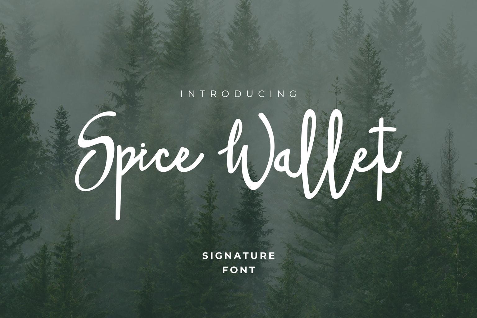 fonts spice wallet script
