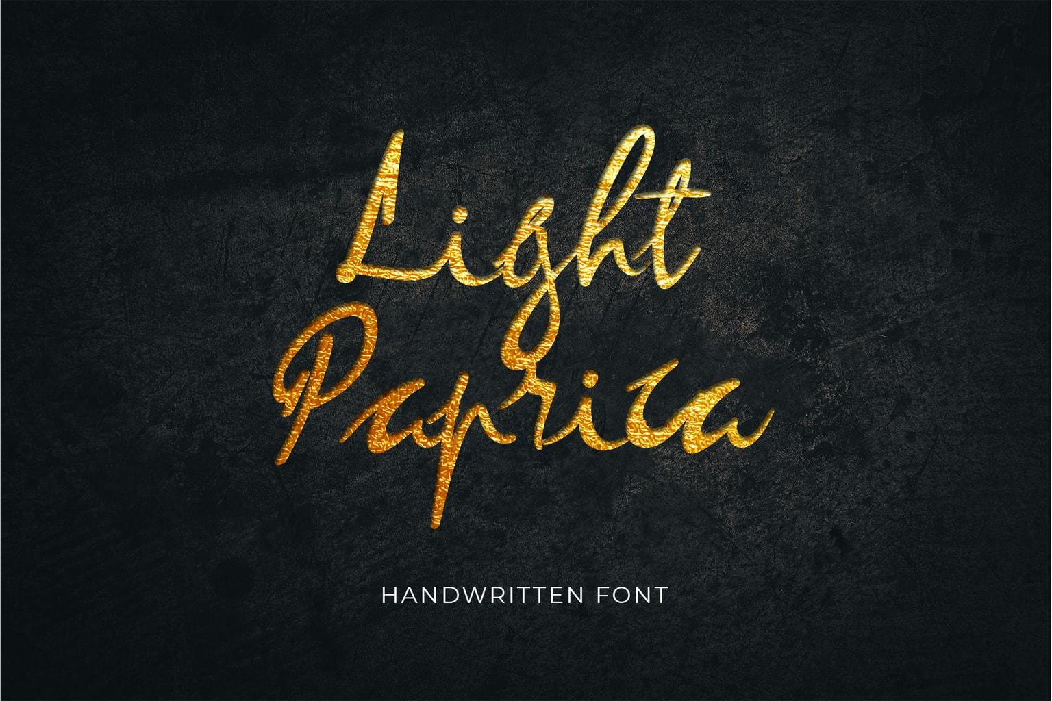 fonts light paprica handwritten