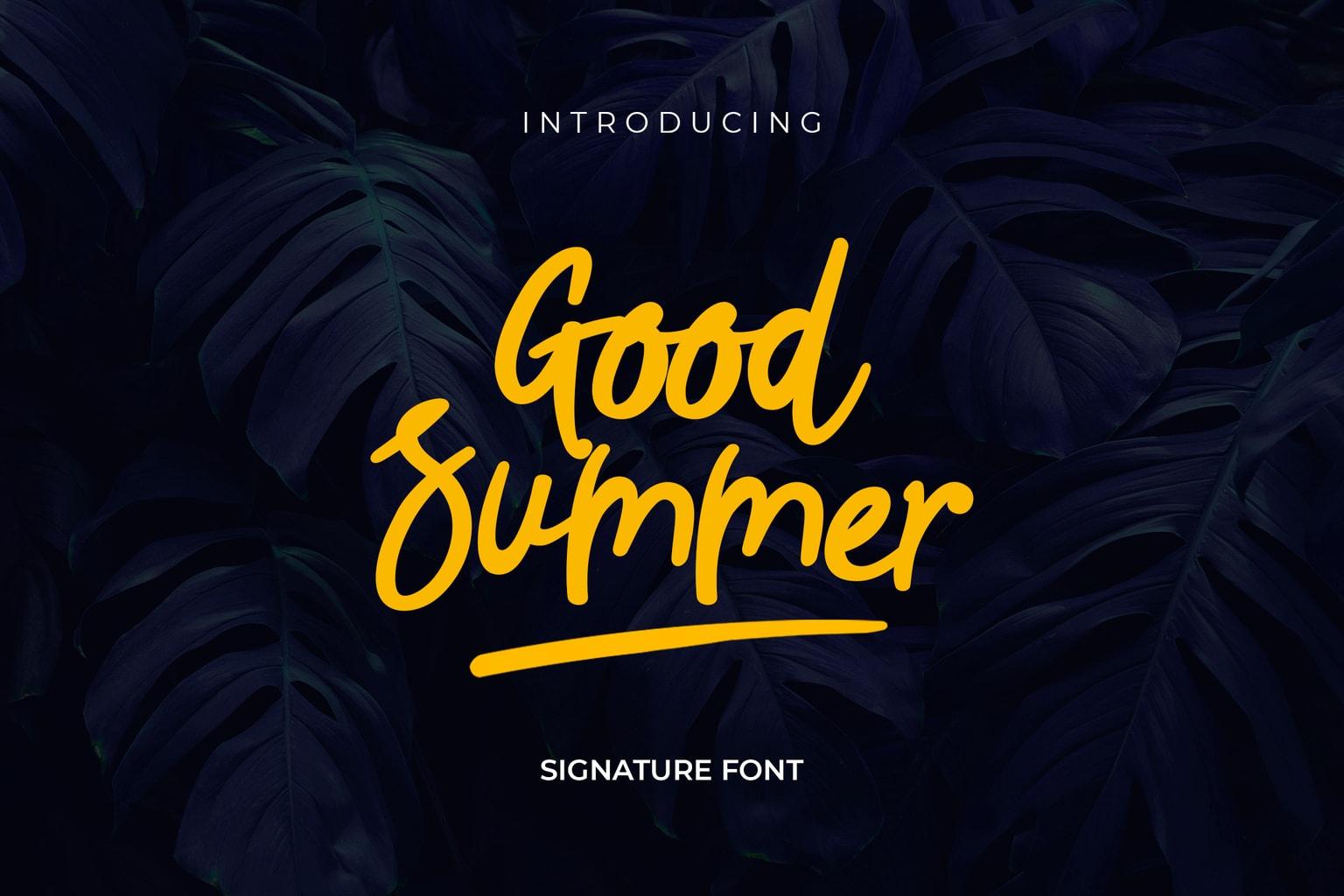 fonts good summer script