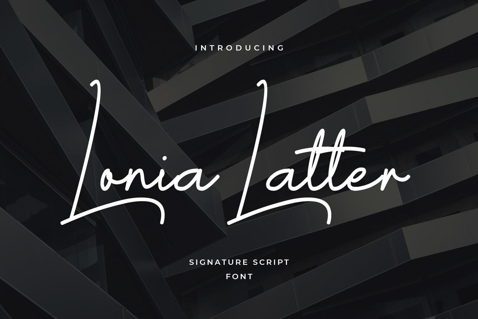 fonts lonia latter script