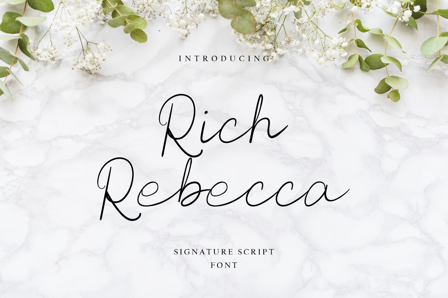 fonts rich rebbeca signature script