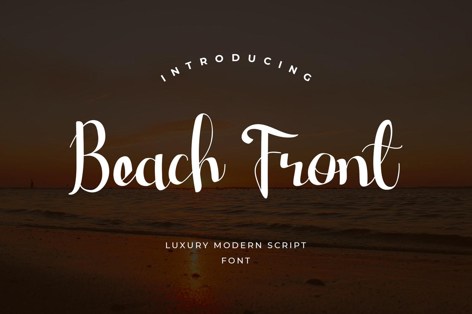 fonts beach front modern script