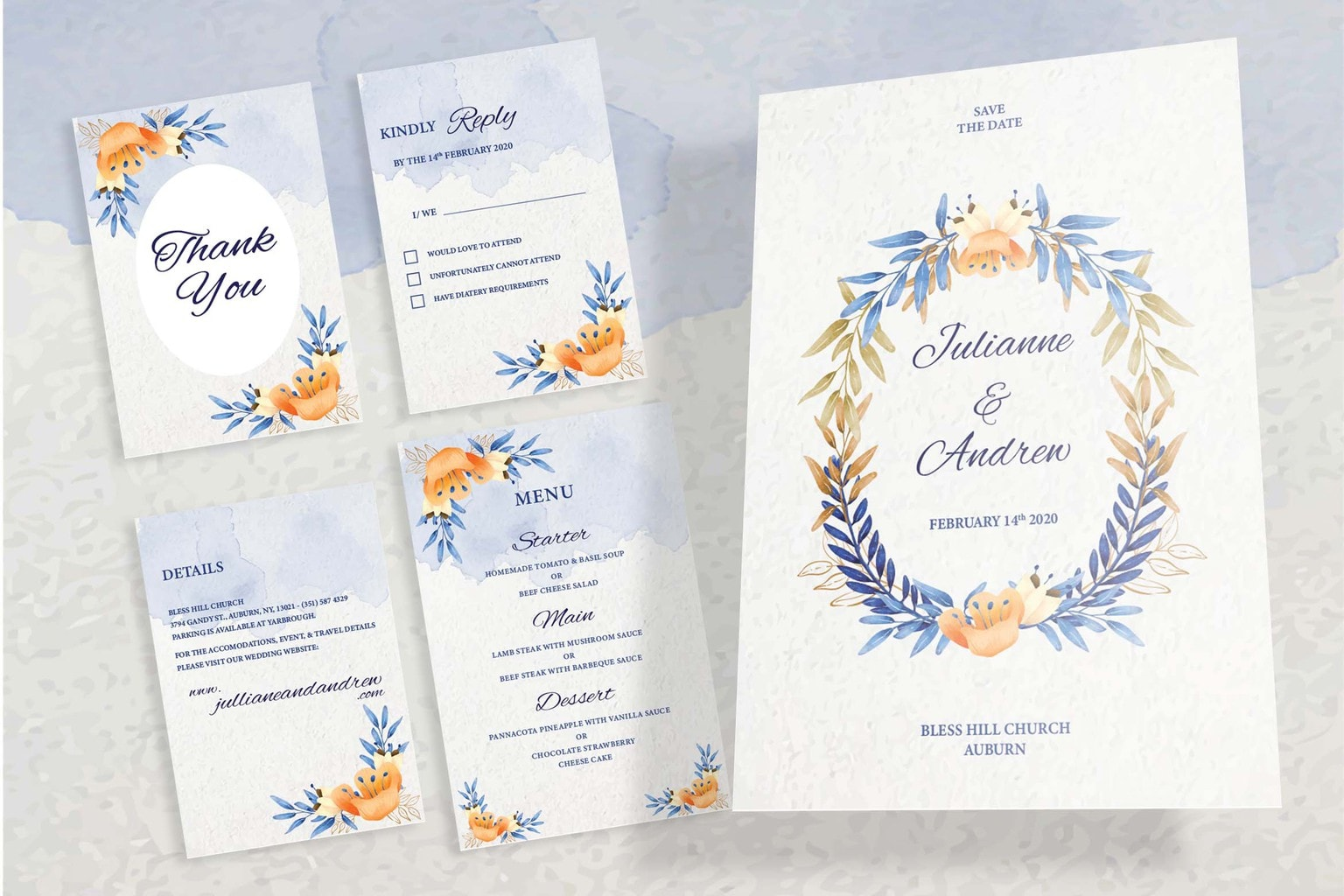 wedding invitation watercolor splash motif