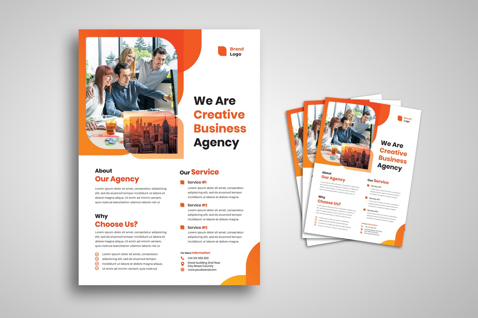 flyer modern creative agency