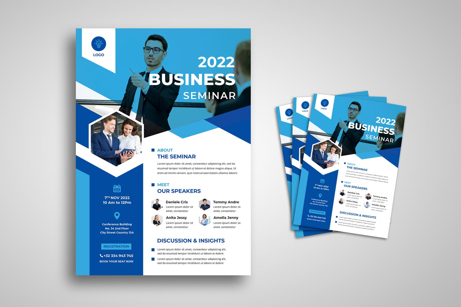 flyer business seminar discussion