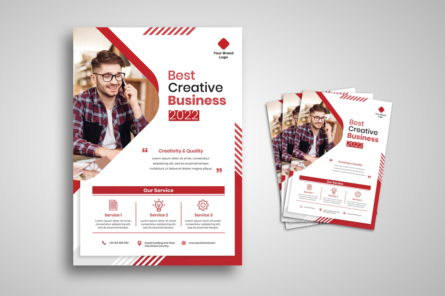 flyer best creative business