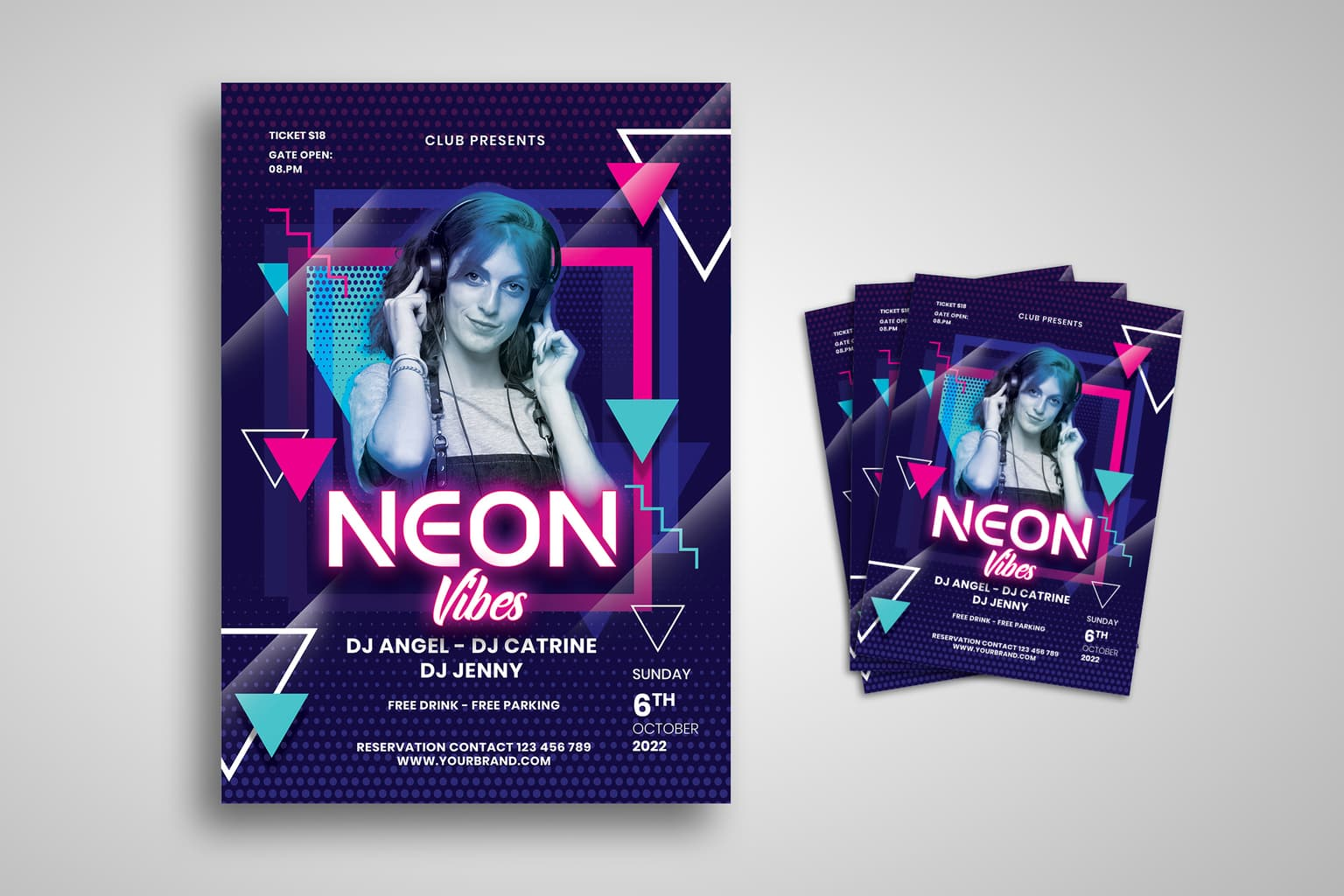flyer neon vibe presents 9