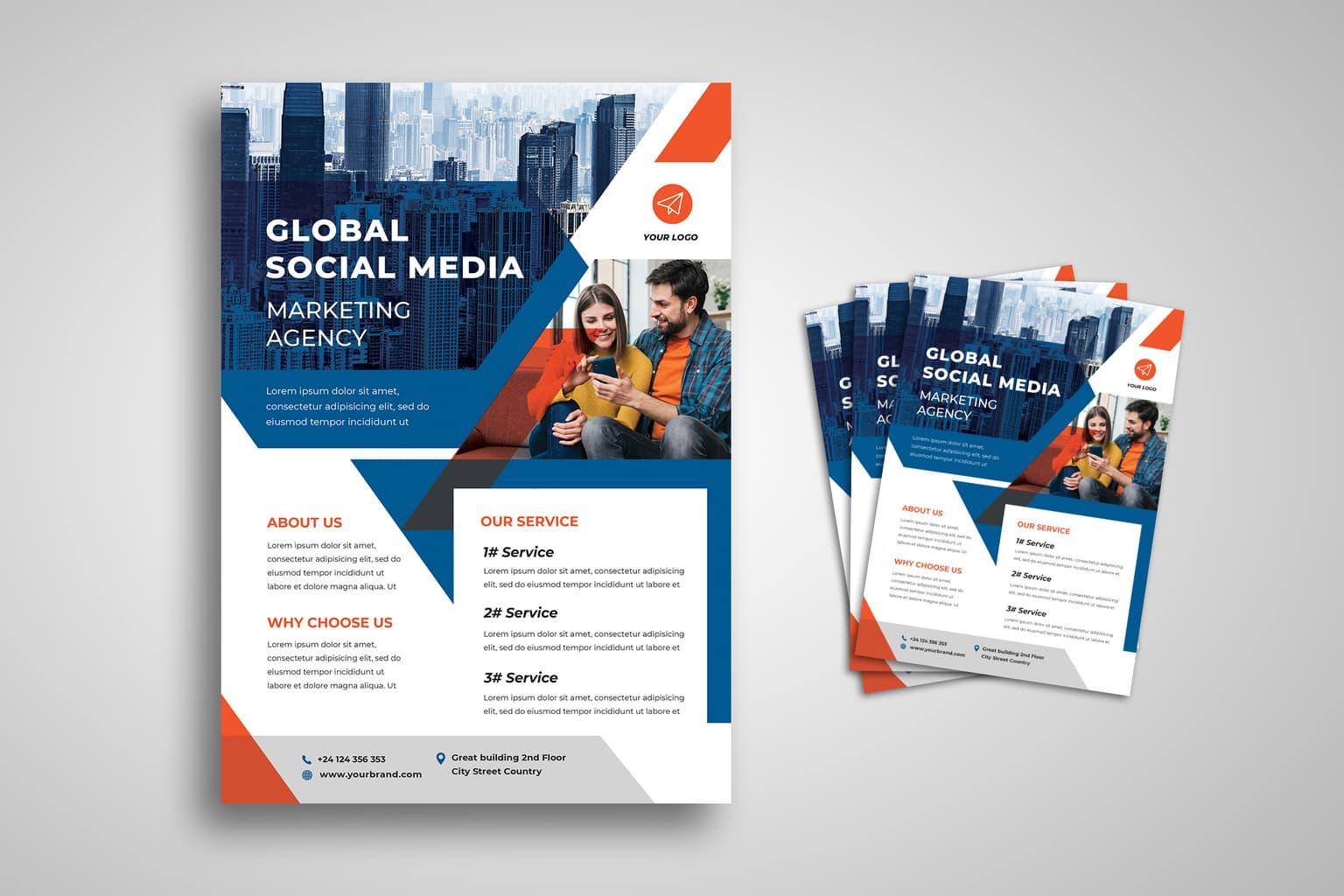 flyer social media branding