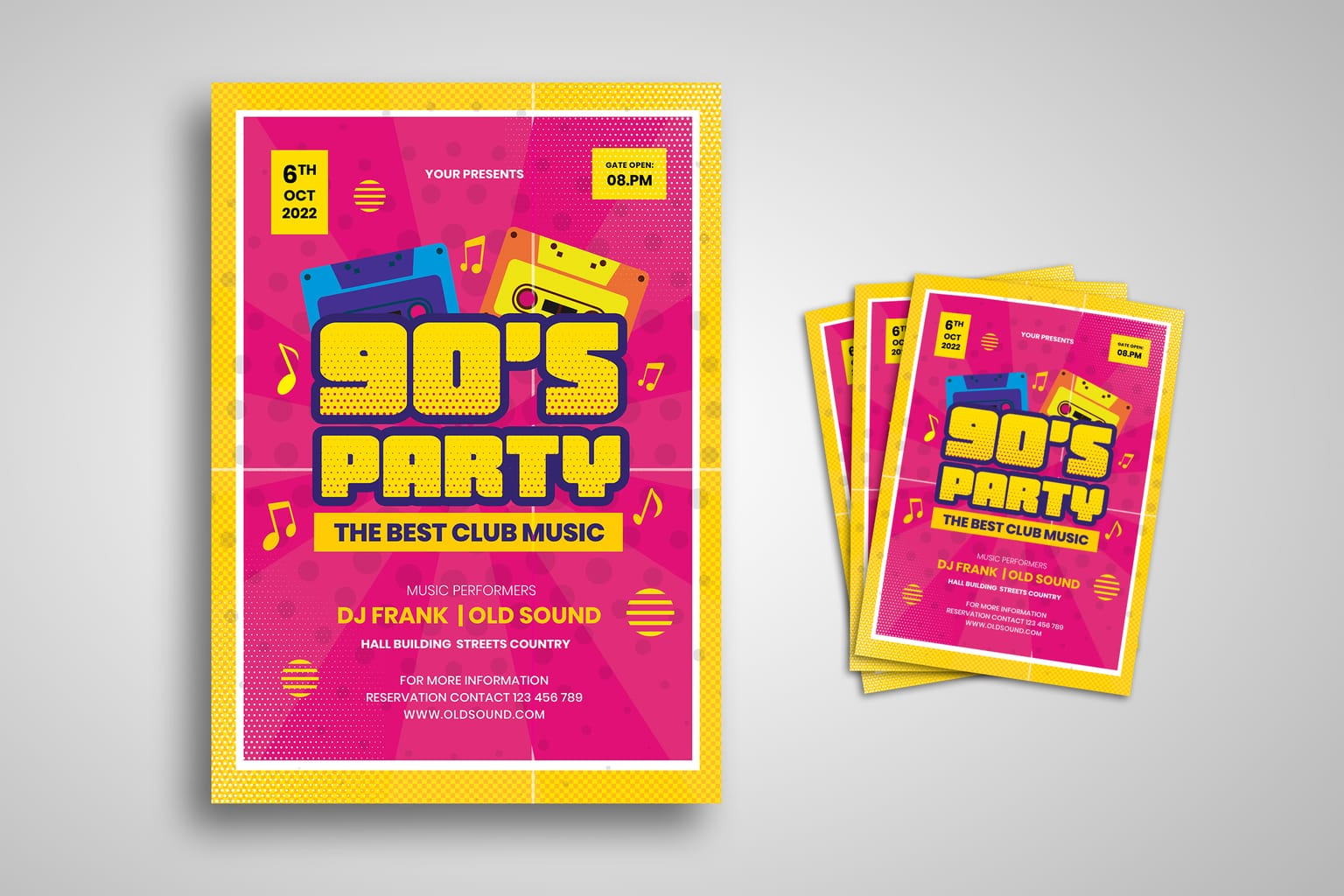 flyer 90s music party 2