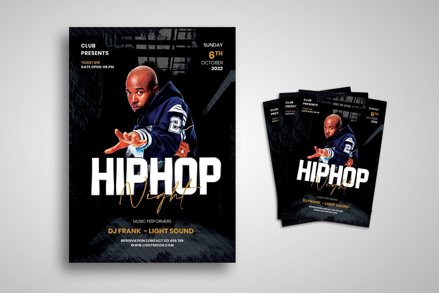 flyer hip hop night music