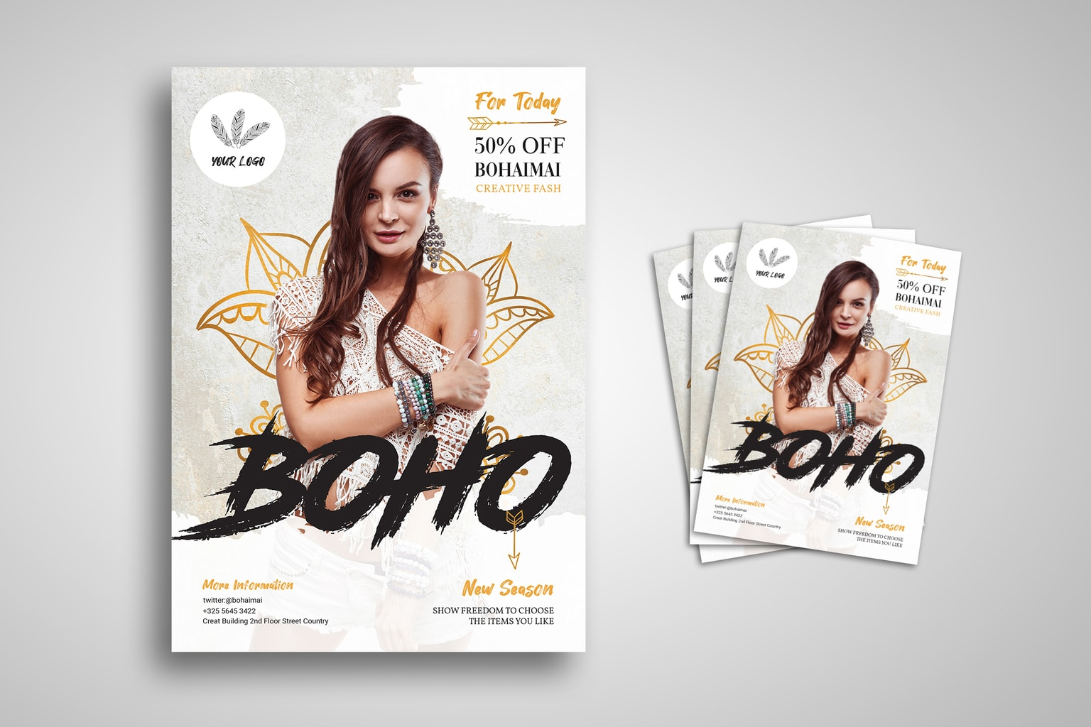 flyer boho fashion new season